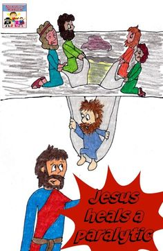 Jesus heals a paralytic Bible lesson