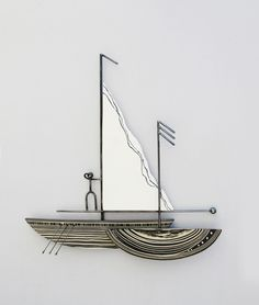 A-54 Small H Sailboat  60x70cm