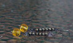 Copper earrings Baltic amber earrings Silver earrings Long earrings Oxidized earrings Dangle earrings Drop earrings Handmade earrings Rustic