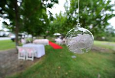 I have these hanging baubles that can be hung inside or outside and maybe place one large bloom in each bauble on a bed of crystals. Tea Ceremony, Wedding Reception, Wedding Ideas, Bicentennial Park, Sydney Wedding, Park Weddings, Fake Flowers, 3
