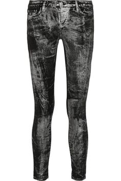 EACH x OTHER metallic mid-rise skinny jeans