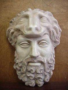 ANCIENT GREEK THEATRICAL MASK OF LEGENDARY HERO HERCULES - UNIQUE, RARE