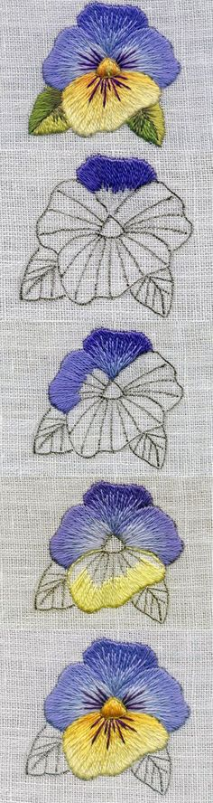 Marvelous Crewel Embroidery Long Short Soft Shading In Colors Ideas. Enchanting Crewel Embroidery Long Short Soft Shading In Colors Ideas. Crewel Embroidery, Paper Embroidery, Hand Embroidery Stitches, Hand Embroidery Designs, Embroidery Techniques, Beaded Embroidery, Cross Stitch Embroidery, Machine Embroidery, Embroidery Digitizing