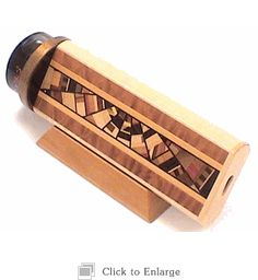 Wooden Kaleidoscope Cosmos 2 Mirror with Wooden Inlaid By the Durettes 2012-1