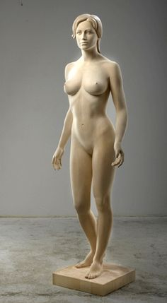 Female Nude - Linden wood by Richard Senoner