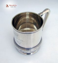 Arabesque Style Mug Whiting 1875 Sterling Silver