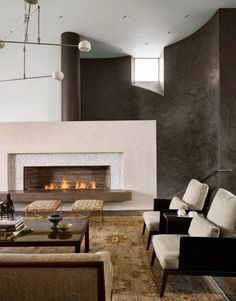 fireplace Lovers | Found on homedesignlove.com