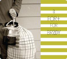 "Little boy (or girl) gift idea - ""Build a Fort Kit"""
