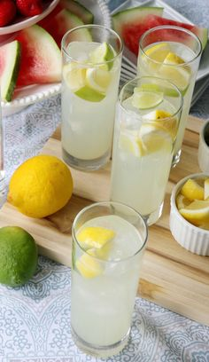 Rum Lemonade - love this quick and easy cocktail recipe for summer!