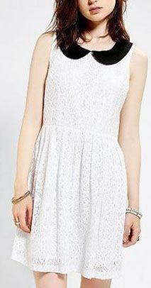 White Peter Pan Collar Dress.