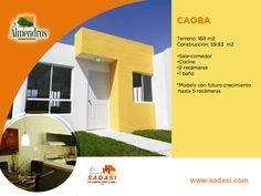 #casas LAS MEJORES CASAS DE MÉXICO. En nuestro desarrollo LOS ALMENDROS en Yucatán, podrá adquirir el modelo Caoba, una hermosa casa con sala-comedor, cocina, 2 recámaras y baño; además de posibilidad de expansión hasta cinco recámaras. En Grupo Sadasi, le invitamos a preguntar por nuestros esquemas de crédito. 01(999)9412182.