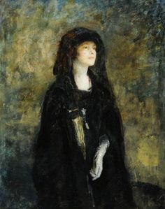 Mrs Claude Johnson in Black (1922). Ambrose McEvoy (English, 1878-1927). Oil on canvas. Ferens Art Gallery. After the rapturous reception given to the painting Madame at the New English Art Club in 1914, McEvoy became one of the most original and...