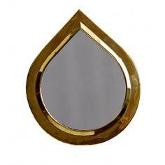Dråbeformet Messing Spejl fra Tine K