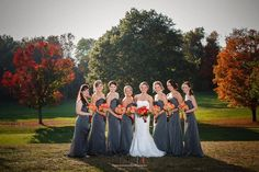 Bridesmaids on the Golf Course #hudsonvalleyweddings