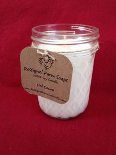 Hot Cocoa Soy Candle in 8oz Jelly Jar by RossignolFarmSoaps, $7.00