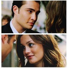 The way they look at each other. Chuck and Blair