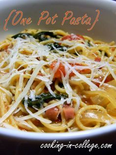 One Pot Pasta - This is pretty easy!