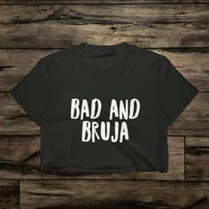 Bad and Bruja Crop Top Bruja Shirt Bruja Gift Witch Shirt Witch Gift Wicca Shirt Goth Shirt Grunge Shirt Witch AestheticWitch Gift by MelmonSquad Graphic Shirts, Printed Shirts, Witch Aesthetic, T Shirts For Women, Crop Tops, Trending Outfits, Wicca, Grunge, Mens Tops