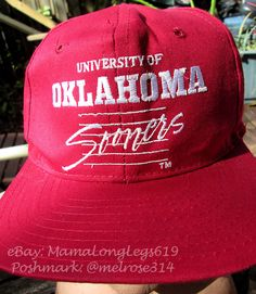 best website 414ab d0d96 Vintage 1980s University of Oklahoma Sooners UO Snapback Hat Cap Football  NCAA  Signature  BaseballCap
