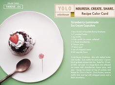 YOLO Colorhouse Recipe Color Card:  Strawberry-Lemonade Ice Cream Cupcakes
