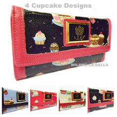 ♥♥ BNWT Lydc Ladies Croc Cupcake Flapover Slot Clutch Wallet Purse Boxed ♥♥ | eBay Purse Wallet, Clutch Bag, Cupcakes, Lady, Free Gifts, Crocs, Designer, Zip Around Wallet, Satchel