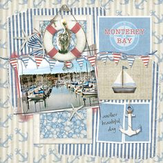 Laser Cut Scrapbook Chipboard Nautical Theme Artist Trading Coins 4 Piece Set
