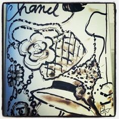 Karl Lagerfeld for Chanel sketch.