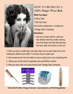 Recreate a 1920's Finger Wave Bob #vintage #flapperhair #1920shair #flapperhowto #thevintagestylist