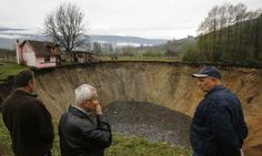 11/26/2013 - Another sinkhole - Sanica, Bosnia-Herzegovina - Their pond was some 20 meters (yards) in diameter and about eight meters deep. Now, the ''abyss,'' as the villagers have dubbed the crater, ...