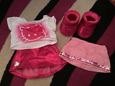 build a bear outfits in Dolls and Bears Build A Bear Outfits, Hello Kitty Clothes, Skirt Boots, Great Deals, Workshop, Dolls, Pink, Fashion, Baby Dolls