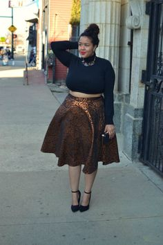 Were absolutely in love with this glam look styled by Gabi of Gabi Fresh, featuring a ModCloth floral skirt!