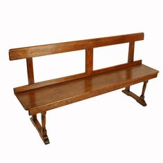 This antique bench seat has a wax finish and is available to buy now online or instore. Antique Chairs, Antique Furniture, Outdoor Furniture, Outdoor Decor, Long Bench, Bench Seat, Single Piece, Stools, Dining Bench