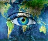 """Clever """"Eye on Earth"""" Image"""