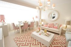 Home-Styling: 'MotherPearl' Living room for the Tv show *** Sala em Madre Pérola - Querido Mudei a Casa by Ana Antunes Home Living Room, Apartment Living, Living Room Decor, Living Spaces, Small Living, Modern Living, Style At Home, Home Fashion, Home Office