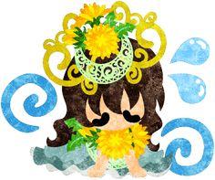 春のフリーのイラスト素材落ち込む可愛い女の子とタンポポの冠のイラスト  Free Illustration of spring Illustration of a cute girl and a tiara of dandelion   http://ift.tt/2lboity