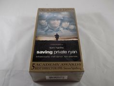 Saving Private Ryan (VHS, Set, Special Limited Edition) for sale online Ryan Edwards, Edward Burns, Tom Sizemore, Movies For Sale, Ireland Beach, John Miller, Normandy Invasion, Saving Private Ryan, The Shawshank Redemption