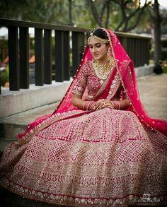 Looking for Heavy bridal maroon lehenga? Browse of latest bridal photos, lehenga & jewelry designs, decor ideas, etc. on WedMeGood Gallery. Indian Wedding Gowns, Indian Wedding Photos, Indian Bridal Outfits, Indian Bridal Lehenga, Indian Bridal Wear, Indian Dresses, Bridal Dresses, Indian Wear, Indian Weddings