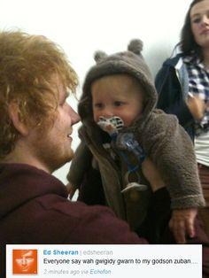 Ed Sheeran and his godson