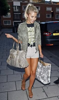 Mollie King love the color combo and style
