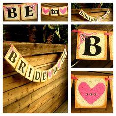 BRIDE to BE Wedding Garland -Banner-Photo Prop-Bachelorette Party- Bridal Shower Decoration-Wedding Sign. $20.25, via Etsy.