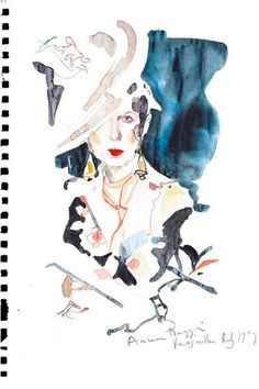 Anna Piaggi Tribute - David Downton (Vogue.com UK)