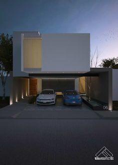 FACHADA PRINCIPAL: Casas de estilo minimalista por FERAARQUITECTOS