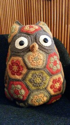 Fall inspired Maggie the African Flower owl by Jo's Crocheteria