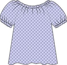 DIY Peasant Top. Nicely detailed tutorial shows how to make the pattern and sew it from scratch.   - maybe for all the girls????