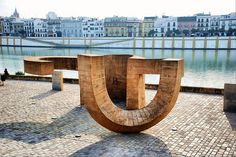 Sevilla. Monumento a la Tolerancia (Eduardo Chillida). by josemazcona, via Flickr