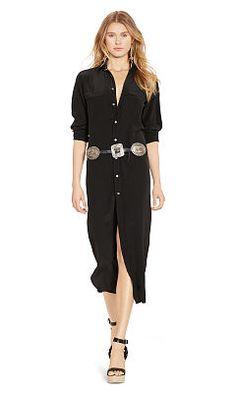 Silk Maxi Shirtdress - Polo Ralph Lauren Maxi - RalphLauren.com