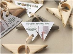 Helps you keep the book while you read, looks great and it's made entirely of wood! Designed and produced by Woodish Wood Tools, Office Accessories, Place Card Holders, Ring, Book, Awesome, Design, Rings