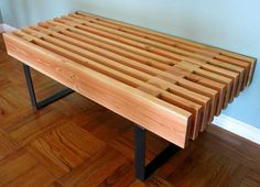 Steel and 2x bench by 265design on Etsy, $425.00