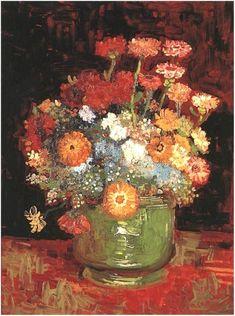 Vase with Zinnias 1886