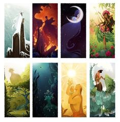 Set of 6 Hawaiian God Prints by Brittney Lee, britsketch, Etsy Art And Illustration, Illustrations, Art Disney, Disney Kunst, Moana Disney, Disney Movies, Fantasy Kunst, Fantasy Art, Hawaiian Mythology